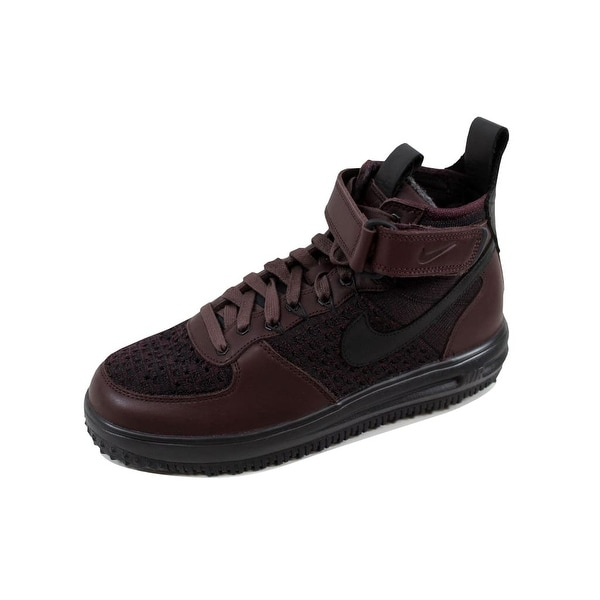 Nike Men's Lunar Force 1 Flyknit Workboot Deep Bergundy/Black 855984-600