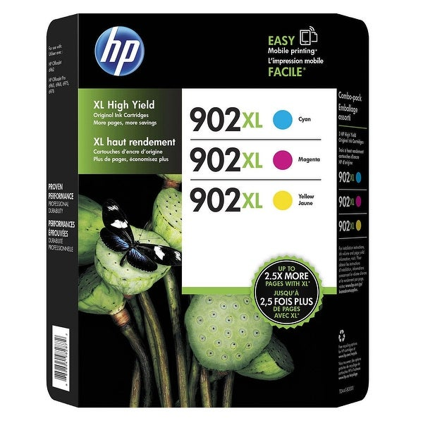 HP 902XL 3-Pack Cyan Yellow Magenta - N/A