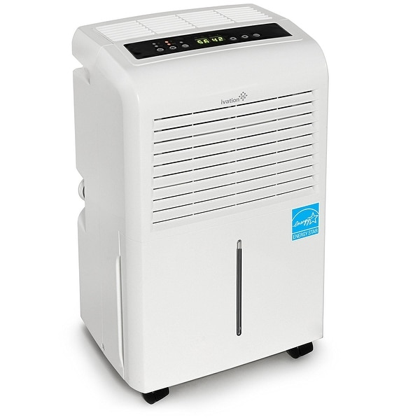 Ivation 30 Pint Energy Star Dehumidifier - Includes Programmable Humidistat, Hose Connector