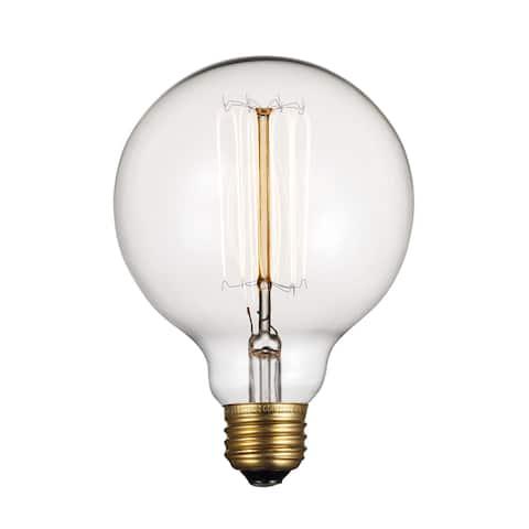 Trans Globe Lighting OC-R60 Single 60 Watt Clear Globe Vintage Edison Dimmable Medium (E26) Incandescent Bulb