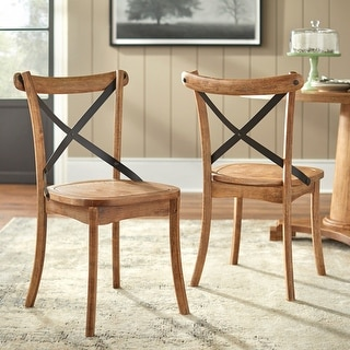 Link to Simple Living Constance X-Back Dining Chairs (Set of 2) Similar Items in Dining Room & Bar Furniture