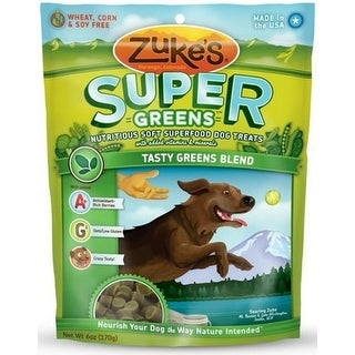 Zukes Super Food Tasty Greens Blend Dog Treats