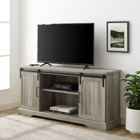 The Gray Barn 58-inch Sliding Grooved Door TV Console