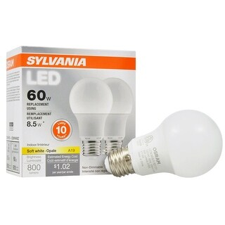 Sylvania 73886 A19 Non-Dimmable LED Light Bulb, 60 Watt, 120 Volts