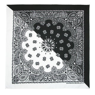 Link to CTM® Split Paisley Print Bandana (Pack of 5) - one size Similar Items in Hair Accessories