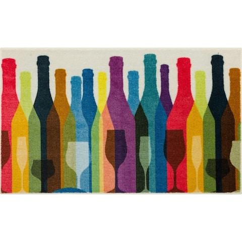 Mohawk Home Colorful Bottles Kitchen Mat Scatter Accent Rug