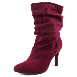 Nine West Neenz3y Women Pointed Toe Synthetic Purple Mid Calf Boot
