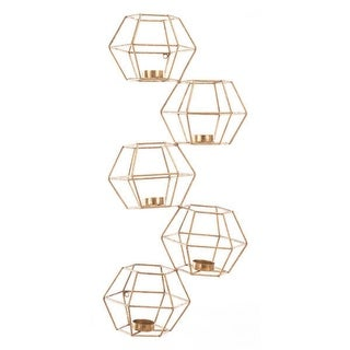 Set Of 5 Wall Candle Holder Gold