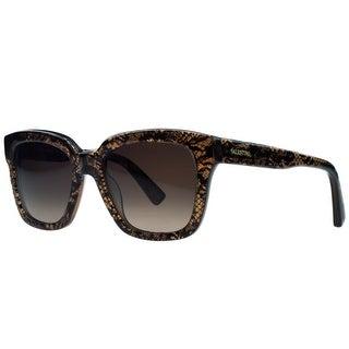 Valentino V667/S 208 Brown Lace Wayfarer Sunglasses