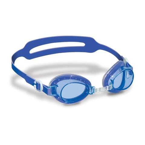 """6"""" Blue and Clear Jelly Goggles with Case Swimming Pool Accessory for Kids"""