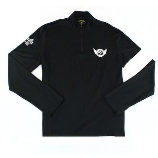 Polo Ralph Lauren NEW Black White Mens XL Henley Quarter Zip Shirt