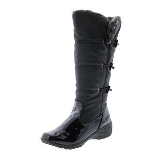 Khombu Womens Abigail Snow Boots Slip Resistant Faux Fur