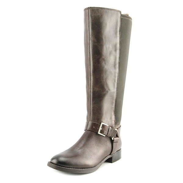 Arturo Chiang Filonna Women Round Toe Leather Brown Knee High Boot