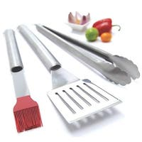 Grill Pro 40035 Barbecue Tool Set, Stainless Steel, 3 Piece