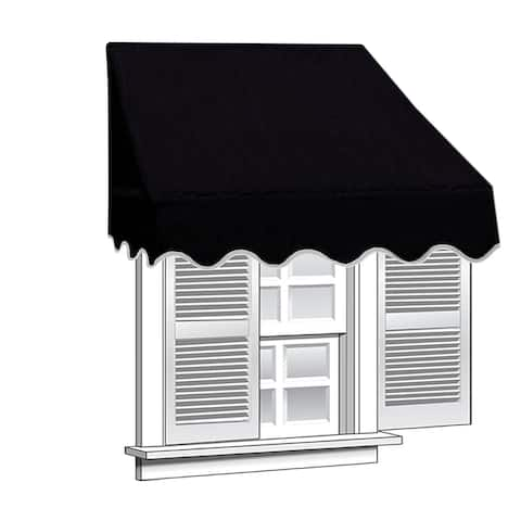 ALEKO 6 feet X 2 feet Window Awning Door Canopy Sun Rain Shade Shelter