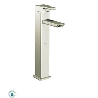 Moen S6711 Single Handle Vessel Bathroom Faucet from the 90 Degree Collection (Valve Included)