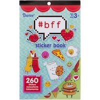 "Sticker Book 9.5""X6""-Hashtag Bff 260/Pkg"