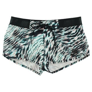 Nike Womens Azores Windblur Mini Shorts Black - black/white/turquoise/peach (2 options available)