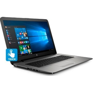 "HP 17-x043DS Intel N3710 Quad-Core, 2TB HDD, 17.3"" HD+ WLED Touchscreen Laptop - Silver"