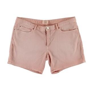 Zara Basic Womens Ombre Regular Rise Denim Shorts - 12