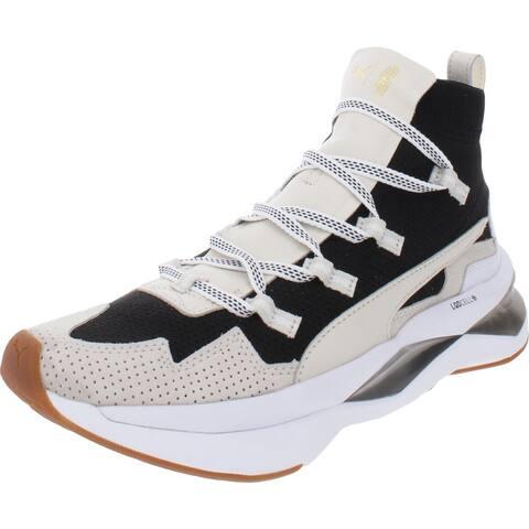Puma Womens Shatter XT L Leath Fashion Sneakers Fitness Lifestyle - Puma Black/Whisper White