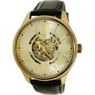Invicta Men's Vintage 22568 Gold Calf Skin Automatic Dress Watch