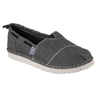 Skechers 34315 BLK Women's BOBS CHILL FLEX-NEW GROOVE Flat