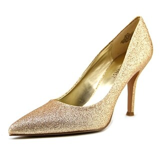 Nine West Flax Women  Pointed Toe Synthetic Gold Heels