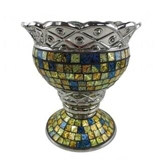 Dolce Mela DMCV006 Purse Decorative Ceramic & Glass Flower Vase - 11.75 x 5.5 x 10.5 in.