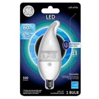 GE 36737 E12 Decorative LED Replacement Bulb, 60 Watt, 500 Lumens