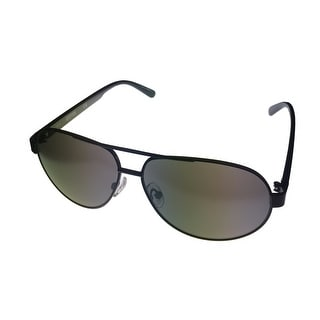 Kenneth Cole Reaction Men Sunglass Black Aviator, Smoke Lens KC1250 2C - Medium