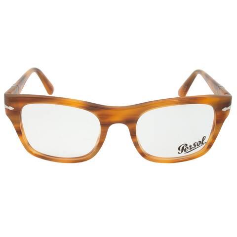 Persol 0PO3070V 960 Rectangular Striped Brown Eyeglass Frames - 52mm x 20mm x 145mm