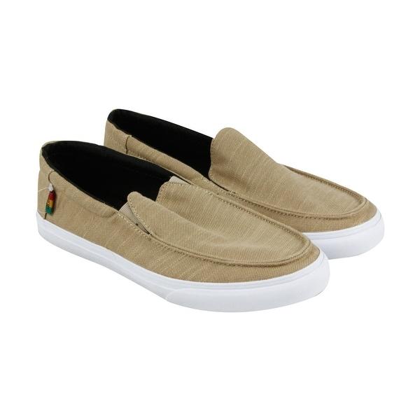 d8eda48d2d Shop Vans Bali Sf Mens Tan Textile Casual Dress Slip On Loafers ...