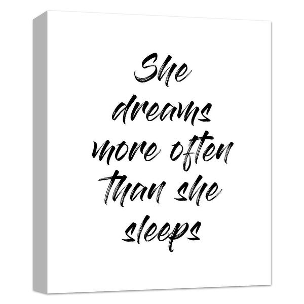 """PTM Images 9-124832 PTM Canvas Collection 10"""" x 8"""" - """"She Dreams More Than She Sleeps"""" Giclee Dream Art Print on Canvas"""
