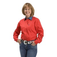 dfdcf0d9 Shop Cinch Western Shirt Womens L/S Pocket Button Weave Red - Free ...