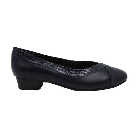 Mark Lemp Classics Womens Tracy Leather Square Toe Classic Pumps - 5.5