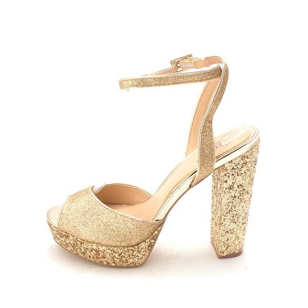 BADGLEY MISCHKA Womens luke Open Toe Ankle Wrap Classic Pumps - 7.5