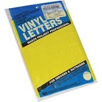 """Permanent Adhesive Vinyl Letters & Numbers 2"""" 167/Pkg-Yellow"""