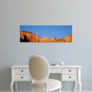 Easy Art Prints Panoramic Images's 'Moonrise Zion National Park UT' Premium Canvas Art