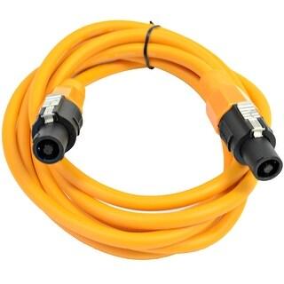 SEISMIC AUDIO 12 Gauge 10 Foot Orange Speakon to Speakon Speaker Cable 10'