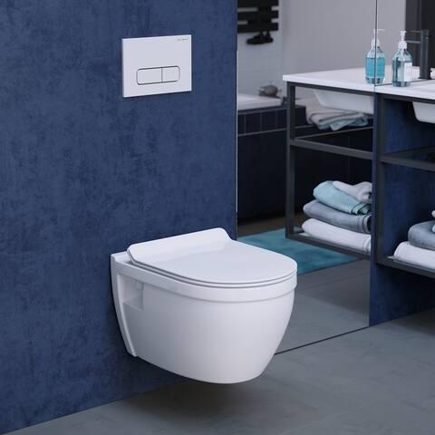 Ivy Wall Hung Elongated Toilet Bowl 0.8/1.28 GPF Dual Flush