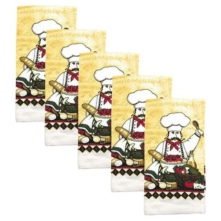 Kitchen Collection 5-Piece Chef Salad Towel Set, Multi, 15x25 Inches - N/A