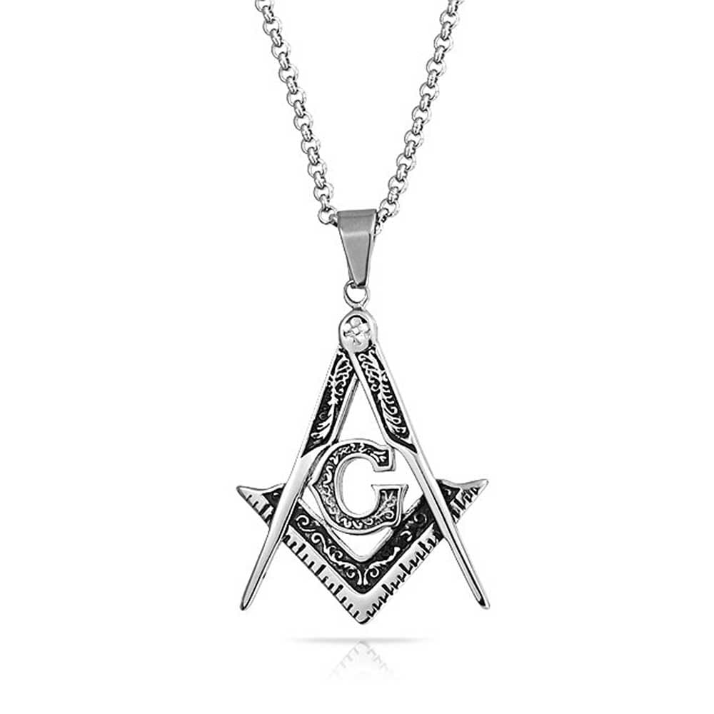 Men/'s Pendant Necklace Stainless Steel Never Fade Jewelry Silver Tone Flame