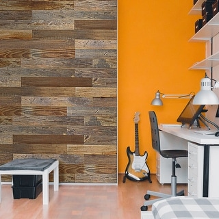 Link to BELLEZE Solid Pine Wood Board Wall Panel Peel & Stick 12Pcs 10 Sq Ft - standard Similar Items in Wall Coverings