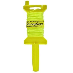 Stringliner 11112 Chalk Mason Line with Reel, 100', Yellow