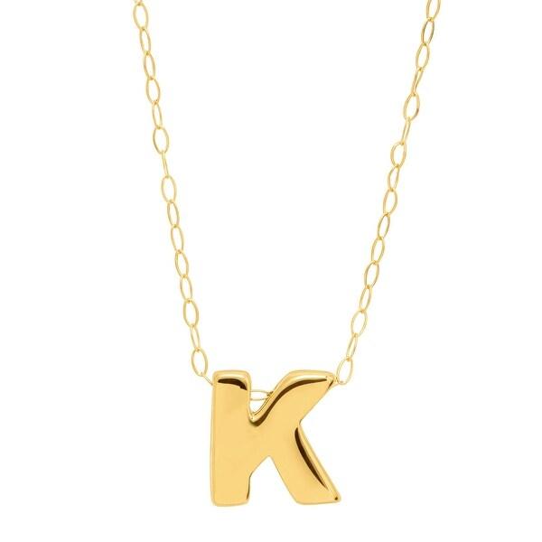 10K Yellow-Medium Initial Pendant