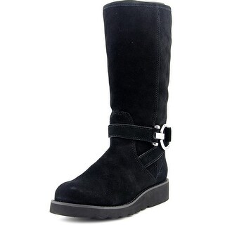 Coach Virtue Women Round Toe Suede Black Winter Boot