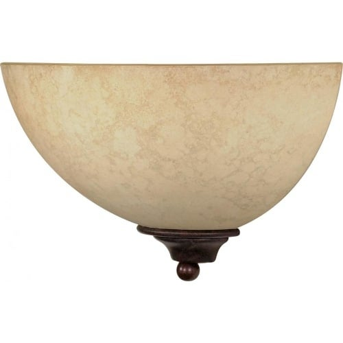 """Nuvo Lighting 60/044 Tapas Single Light 12"""" Wide Wall Sconce with Tuscan Suede Glass Shade"""