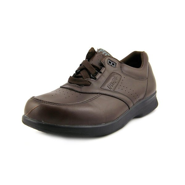 Propet Vista Walker Men  Round Toe Leather Brown Sneakers