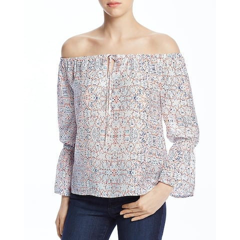 Cupcakes and Cashmere Womens Blouse Printed Off-The-Shoulder
